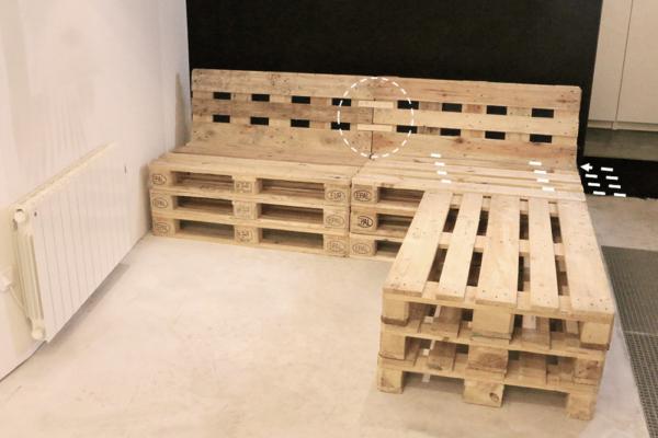 Mobilier fabriqu avec des palettes en bois meubles - Fabrication meuble en palette ...