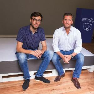 Felix Baer et Andreas Bauer, fondateurs de la marque Bruno.