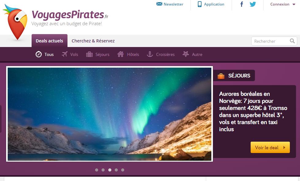 Avis du site pirates voyages