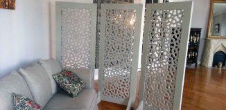 moucharabieh intérieur bois blanc