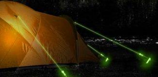 piquet toile de tente lumineux