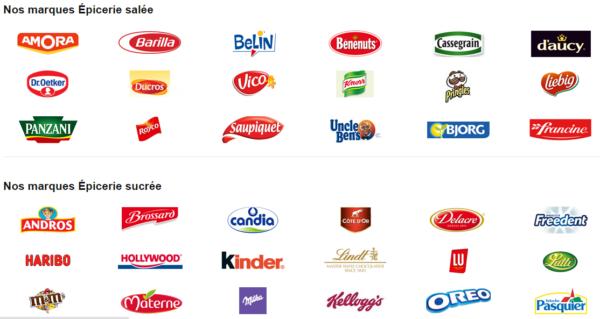 Marques de nourriture et produits alimentaires