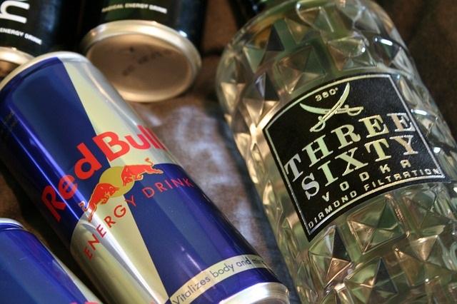 boisson énergisante RedBull et vodka