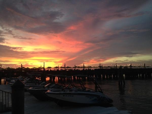 couché de soleil Key West Floride.