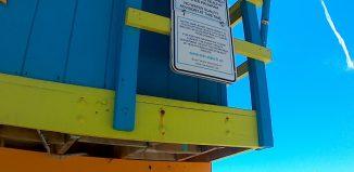 Cabane sauveteur plage Miami Floride