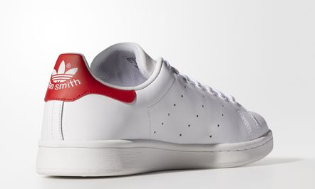 new product 674c1 874e2 Les classqiues Stan Smith blanche et rouge mixtes !
