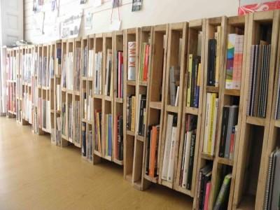 bibliothèque palette bois