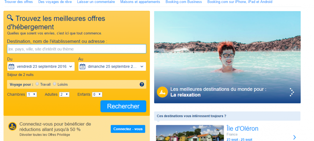 booking site internet