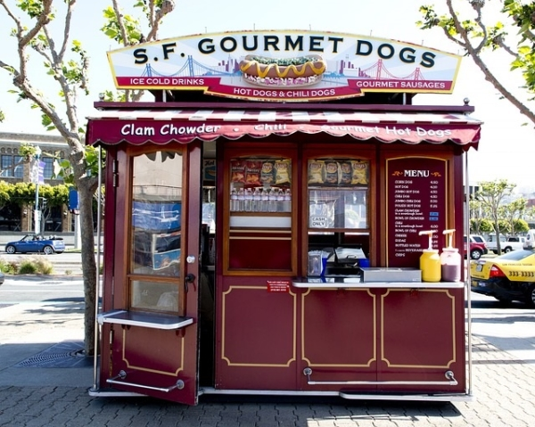 dogs cart - stand hot-dog