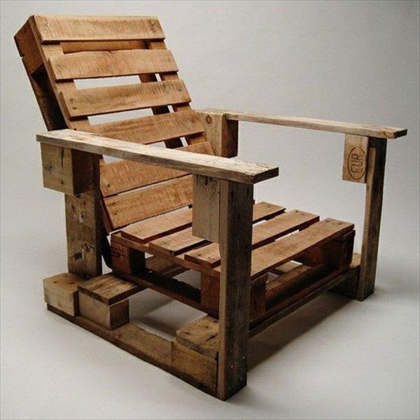 fauteuil palette en bois