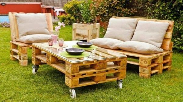 Mobilier fabriqué avec des palettes en bois : meubles décos et ...