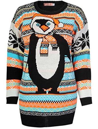 pull de noel pingouin