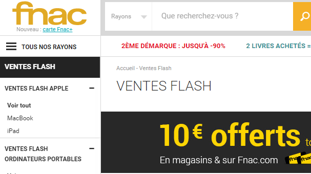 25fa353b178759 Code promo FNAC   25% de réduction à partir de 60€ d achat !