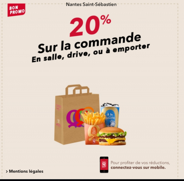 bon réduction promo quick