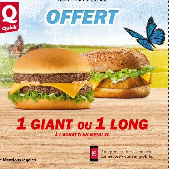 burger gratuit quick