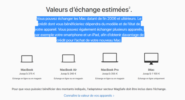 valeur mac