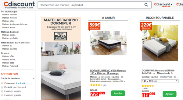 bon matelas pas cher matela pas cher 140x190 hoze home matelas mousse 160x200 cm merinos. Black Bedroom Furniture Sets. Home Design Ideas