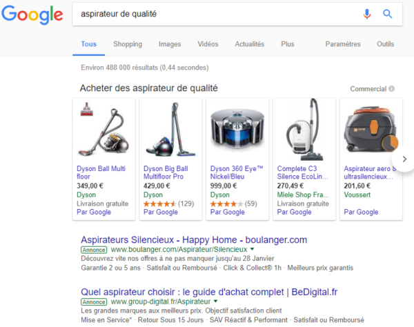 annonce google