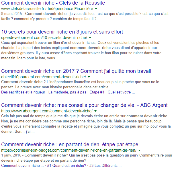 comment devenir riche google