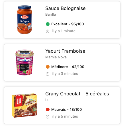 application qualité aliments