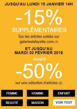 promotion soldes galeries lafayette