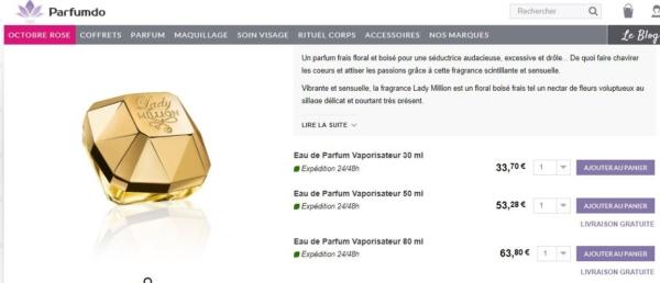 promotion parfum parfumdo