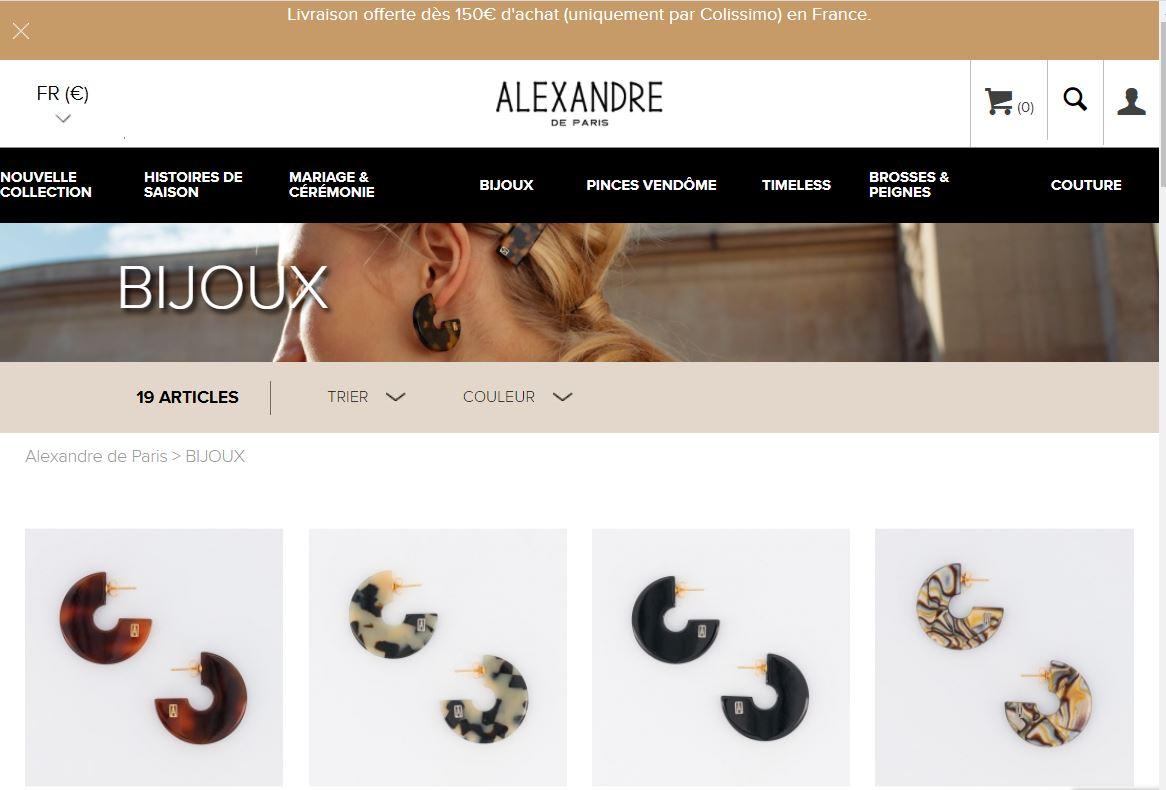 bijouterie en ligne Alexandre de Paris